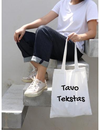 Ekologiškas krepšys + TAVO UŽRAŠAS